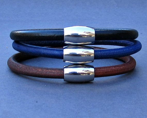Gift For Men Stainless Steel, Leather Bracelet Cuff, For Husband,  For Boyfriend, For Him, Boyfriend Gift, Gift,  Men's Bracelet,  Mens Gift