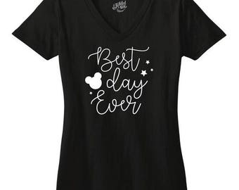 Best day ever Tshirt - Womens Clothing. Womens Tshirt. Graphic Tee - Tickled Teal