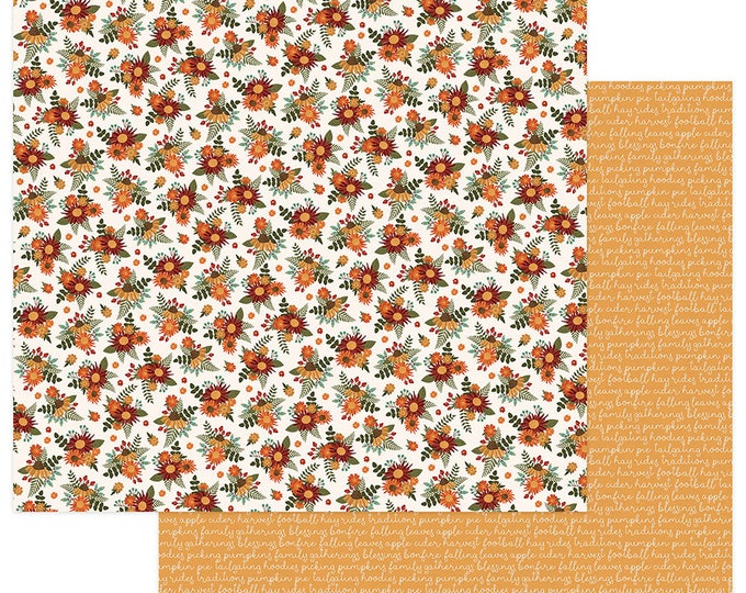2 Sheets of Photo Play AUTUMN ORCHARD 12x12 Scrapbook Cardstock Paper - Grateful