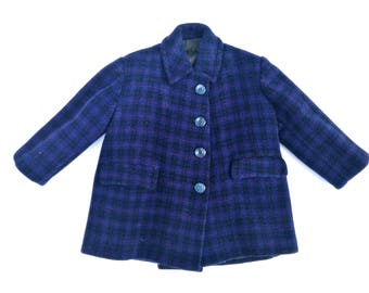 Vintage wool coat (2-3 years) made in italy, 1960s