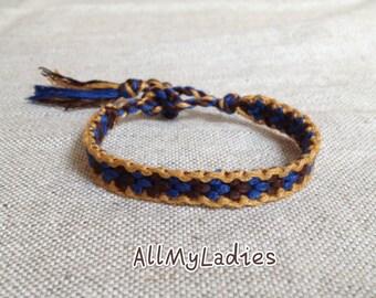 Bracelet dark Brazilian blue Brown and Brown (No. C5)