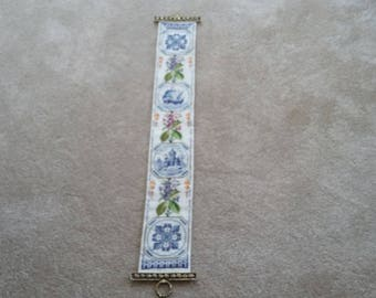 Vintage Needlepoint Tapestry Length Vintage Trains