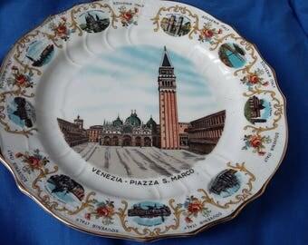 Vintage Dresden Souvenir Italy Plate Venezia Piazza S. Marco