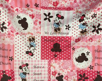 Pink minnie Children quilt fabric 90*200cm one size 36*80 inch