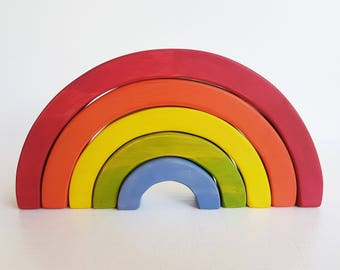 Miss Molly's Bright Rainbow - Wooden Stacking Toy