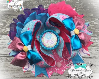 Happy as a Clam OTT Bow- Over the Top Hairbow ~Summer inspired hairbow ~