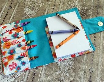Personalized Crayon Wallet - Art Kit - Child Art Organizer - Crayon Organizer - Crayon Bag Holder - Homeschool Art - Homeschool Kit
