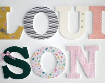 LOUISON - Wooden - name letters