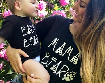 MOMMY and ME LINE!  mommy and me, besties, mom a baby shirt, mommy and me matching clothes, mama bear, baby bear