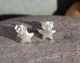 Thai Hill Tribe Silver stud, Silver stud earring, Boho Silver, Karen Hill Tribe, Star stud, Heart stud, Flower stud, Spiral earring