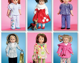 McCalls 5775- Sewing pattern for 18 Inch Doll Clothes- Fits American Girl Dolls