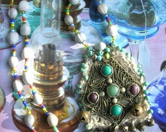 GYPSY NECKLACE***boho gypsy***Vintage materials**Handmade