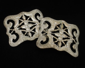 Shoe Buckle Clips Sew-On Vintage