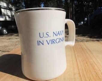 US Navy Mug, US Navy in Virginia Coffee Mug, W. C. Bunting Navy Mug - US Navy Collector Mug