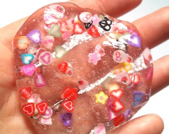 Clear Slime rainbow glitter slime Heart Love slice fimo clear glitter confetti slimes party favor birthday gift rainbow leaves valentine