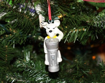 Upcycled Toy Ornament- Dalmation with Flashlight