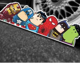 Superhero Avengers Vinyl Decal Car Window Sticker - Ironman/Hulk/Superman/Batman/Captain America/Spiderman Computer Laptop MacBook