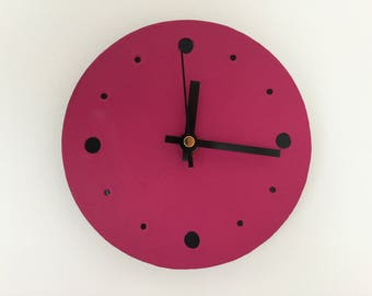 Leather Clocks, Wall/Stand,  Silent  movement, Circle,  Interior wall clock for the home or office.  Contemporary and Minimalist.