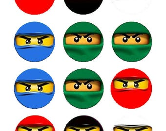 Ninja party decoration edible cupcake images cupcake toppers