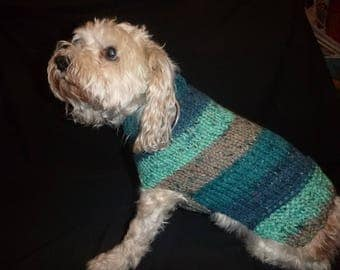 Hand knit Dog Sweater-NEW COLOR