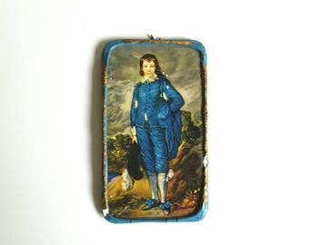 Vintage dollhouse miniature painting, The Blue Boy by Gainsborough, doll house artwork