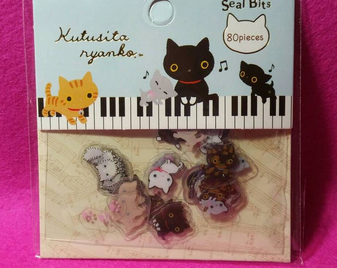 Kawaii Kutusita Nyanko Sticker Sack by San X