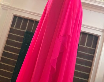 Vintage Hot Pink Mike Benet Formal Gown