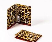 Card holder African print - credit card wallet -oyster card holder-  travelcard wallet - business card case - Red leopard