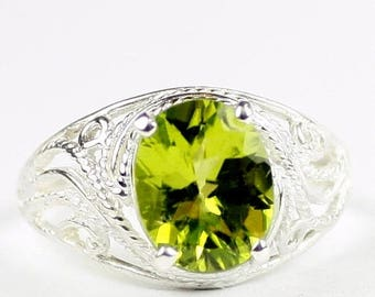 On Sale, 20% Off, Peridot, 925 Sterling Silver Ladies Ring, SR083