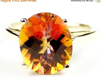 On Sale, 30% Off, Twilight Fire Topaz, 14Ky Gold Ring, R055