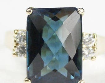 On Sale, 30% Off, London Blue Topaz, 14KY Gold Ring, R201