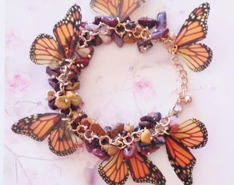 bracelet butterfly monarch wings