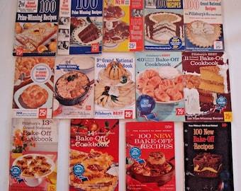 U CHOOSE:PILLSBURY Grand National BAKE-Off Cookbook Vintage Recipe Book 1st 2nd 3rd 4th 5th 6th 7th 9th 10th 11th 12th 13th 14th 15th 16th