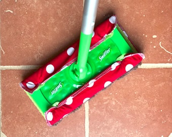 Reusable Swiffer Pads Swiffer Dry Pad Refill Swiffer Wet Mop Refill Pad --- Red and White Dots