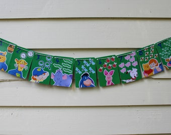 Vintage Pooh and Friends Bunting (Green)