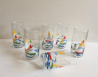 Vintage Glass Tumblers , Anchor Hocking.