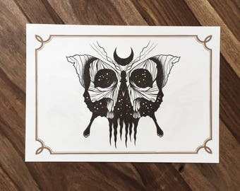 LIMITED Butterskull  - Tattoo print 50/50 signed