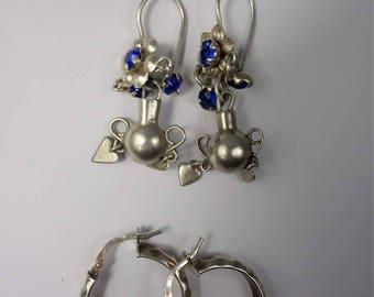 Pair of Guatemalan  Silver Earrings