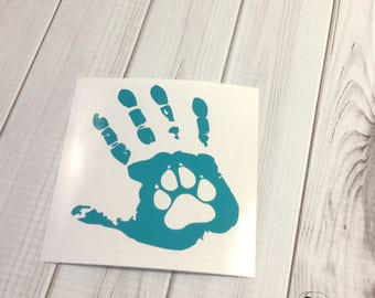 Pawprint Decal, Paw Print Decal, Dog Pawprint Decal, Dog Paw Print Decal, Dog Paw Print, Pet Pawprint, Dog Decal- You choose size and color.