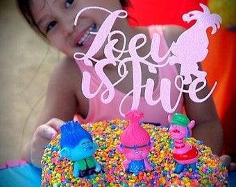 Troll Cake topper, troll birthday cake topper, troll birthday, Troll birthday decorations, Trolls, birthdays