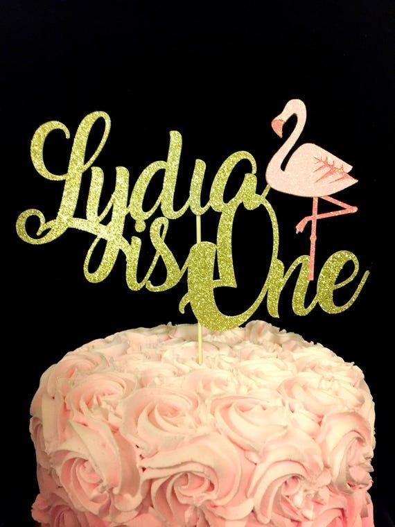 Flamingo 1st birthday Flamingo cake topper 1st birthday cake