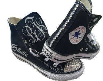 Converse High Top Sneakers + Personalization/Bling