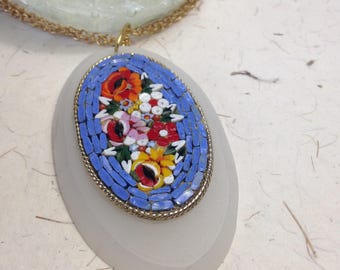 Repurposed Mosaic Pendant