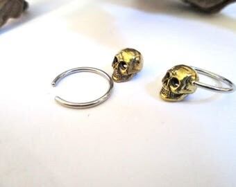 Skull septum,sugar skull earring-skull septum-1 pair