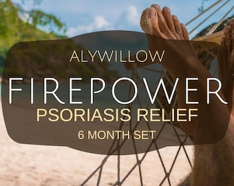 FIREPOWER Set || helps relieve psoriasis symptoms || safe & soothing || sensitive skin  || effective || medicinal plants || pure