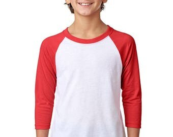KIDS 3/4 Raglan Sleeve T-shirt, Size XS-XL-Choose design