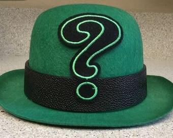 Riddler Green Derby Party Costume Hat