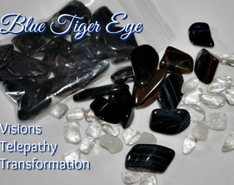 Pietersite Blue Tiger Eye Nuggets for Clearing and Cleansing Negativity perfect for grid work