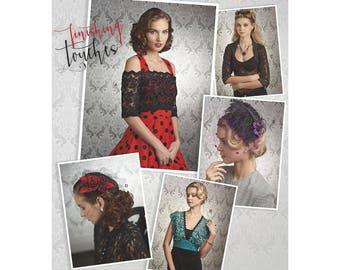 8365, Simplicity, Coverups, Bridal Accessories, Headpiece, Bolero, Fascinator, Bird Cage Veil, Hat, Victorian, Wedding, Formal, Dress Up