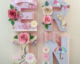 Nursery Letters for little girls